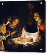 Adoration Of The Child Acrylic Print