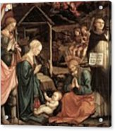 Adoration Of The Child With Saints 1460 65 Fra Filippo Lippi Acrylic Print