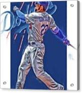 Adrian Gonzalez Los Angeles Dodgers Oil Art Acrylic Print