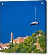 Adriatic Town Of Vis Sailing Destination Waterfront Acrylic Print