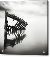 Adrift At Sea In Black And White Acrylic Print