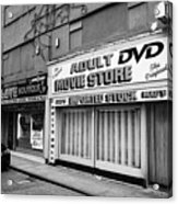 adult dvd store and sex shop Northern quarter Manchester uk Acrylic Print