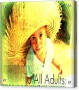Adults Only Acrylic Print by Fania Simon