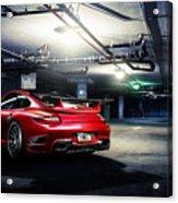 Adv1 Red Porsche 2 Acrylic Print