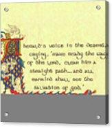 Advent Herald Of Christ Acrylic Print