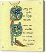 Advent Peace On Earth Acrylic Print