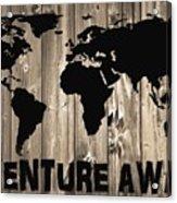 Adventure Awaits Graphic Barn Door Acrylic Print