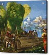 Aeneas And Achates On The Libyan Coast 1520 Acrylic Print