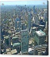 Aerial Abstract Toronto Acrylic Print