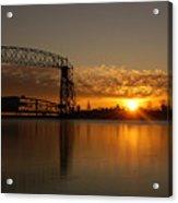 Aerial Bridge In Sunrise Acrylic Print