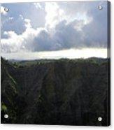 Aerial Canyon View Of Kauai Acrylic Print
