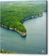 Aerial Image Of  Long Point Cliff Acrylic Print