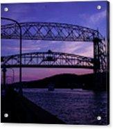 Aerial Lift Bridge At Sundown Acrylic Print