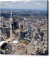 Aerial Of Downtown Toronto Ontario Acrylic Print