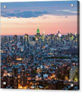 Aerial Of Midtown Manhattan With Empire State Building, New York Acrylic Print