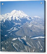 Aerial Of Mount Mckinley Acrylic Print