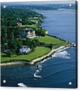 Aerial Of The Breakers, A Mansion Built Acrylic Print by Ira Block