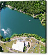 Aerial Over Blue Stone Quarry In North Carolina Acrylic Print