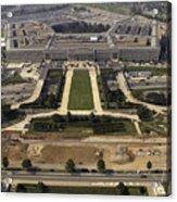 Aerial Photograph Of The Pentagon Acrylic Print