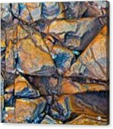 Aerial Rock Abstract Acrylic Print