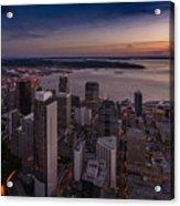 Aerial Seattle Westward View Acrylic Print