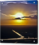 Aerial Sunset Over Canal Acrylic Print