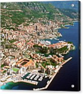 Aerial View Of A City, Monte Carlo, Monaco, France Acrylic Print by Medioimages/Photodisc