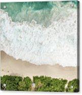 Aerial View Of Anse Intendance - Mahe - Seychelles Acrylic Print