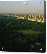 Aerial View Of Central Park, An Oasis Acrylic Print