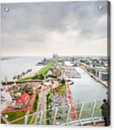 Aerial View Of Famous Havenwelten In Bremerhaven Acrylic Print