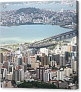 Aerial View Of Florianópolis Acrylic Print