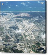 Aerial View Of Fort Lauderdale Airport. Fll Acrylic Print