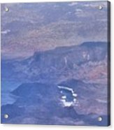 Aerial View Of Hoover Dam Acrylic Print