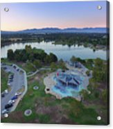 Aerial View Of Lake Balboa Park  Acrylic Print