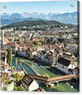 Aerial View Of Lucerne In Switzerland.  Acrylic Print