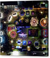 Aerial View Of Norco Fair - Pottstown Pa Acrylic Print