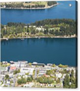Aerial View Of Queenstown In New Zealand Acrylic Print