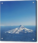 Aerial View Of Snowy Mountain Acrylic Print