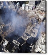 Aerial View Of The Destruction Where Acrylic Print