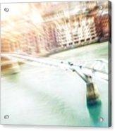Aerial View Of The Millennium Bridge Acrylic Print