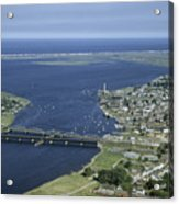 Aerial View Of The Mouth Of Merrimack Acrylic Print