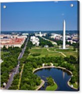 Aerial View Of The National Mall And Washington Monument Acrylic Print