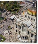 Aerial View Of The Palace Of Fine Arts Acrylic Print