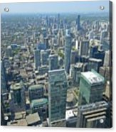 Aerial View Of Toronto Looking North Acrylic Print