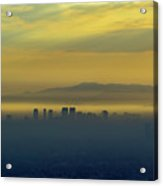 Aerial View Of Westwood Downtown At Sunset Acrylic Print