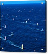 Aerial View Of Windsurfer Acrylic Print