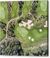 Aerial View Over Golf Field In Poland. Summer Time. Acrylic Print