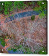 Aerial View Over Wooded Forest And Road Acrylic Print