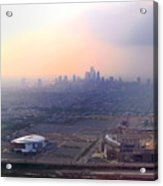 Aerial View - Philadelphia's Stadiums With Cityscape  Acrylic Print