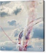 Aerobatic Group Formation  At Blue Sky Acrylic Print